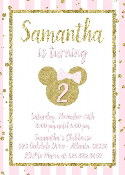 Minnie Mouse Birthday Baby Shower Invitation And 50 Similar Items