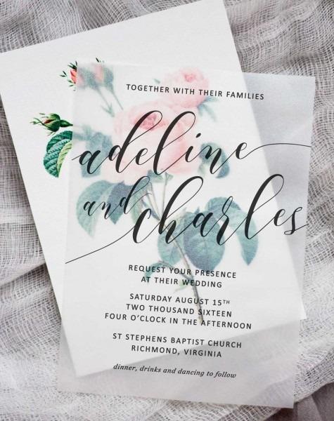 Gorgeous Paper Wedding Invitations Diy Floral Wedding Invitations