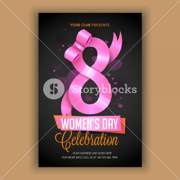 Glossy Text 8 Made By Pink Ribbon, Elegant Template, Banner, Flyer