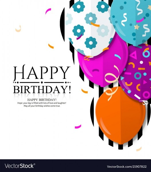 Happy Birthday Invitation Card Royalty Free Vector Image