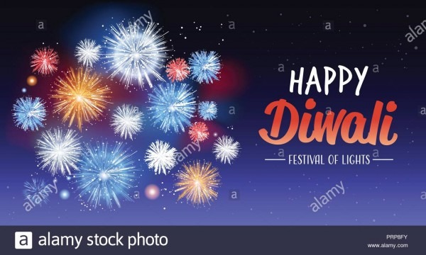 Happy Diwali Traditional Indian Lights Hindu Festival Celebration