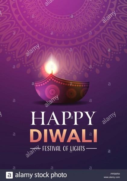 Happy Diwali Traditional Indian Lights Hindu Festival Celebration