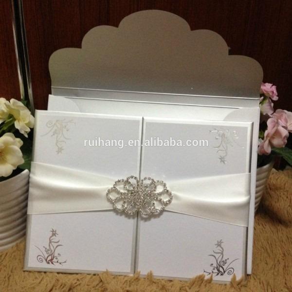 Hardover Gatefold Hotstamp Craft Lourious Wedding Invitation Card