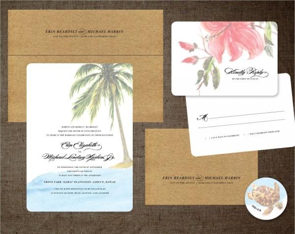 Hawaiian Wedding Invitations Hawaiian Wedding Invitations With The