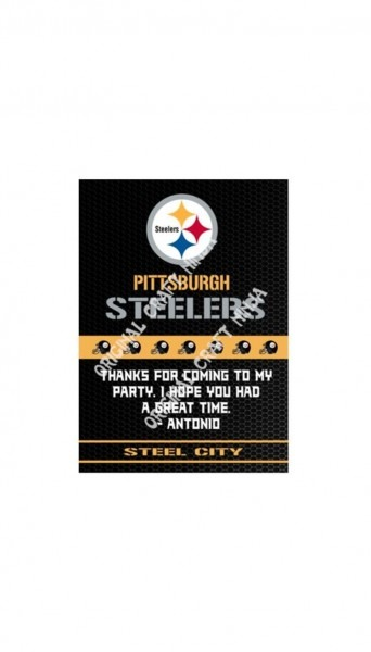 Pittsburgh Steelers Birthday Party Invitations Printable