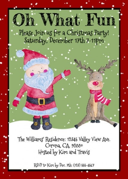 Oh What Fun Christmas Party Invitation Christmas Party