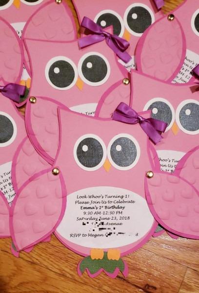Owl Invitation Owl Theme Owl Baby Shower Owl Birthday