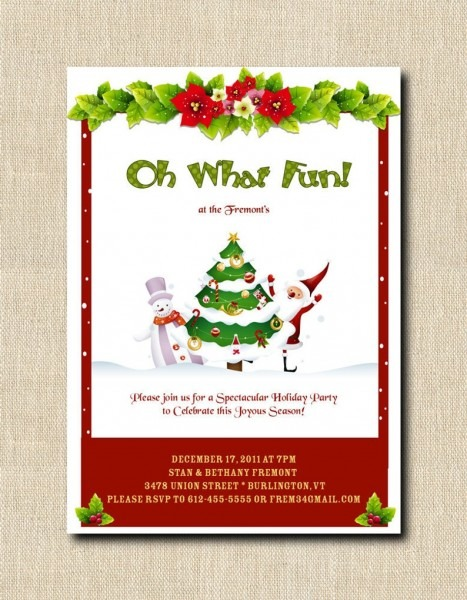 Oh What Fun Holiday Christmas Party Invitation Digital Diy