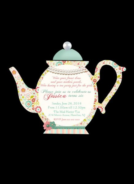 Diy Printable Personalized Teapot Invitation High Tea