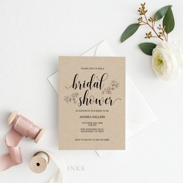 Uk Australia Wedding Bridal Shower Invitation Templaterustic