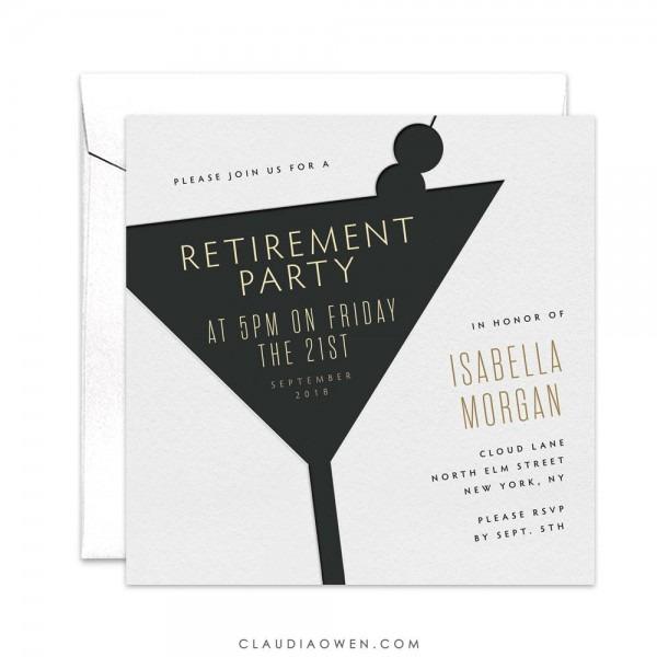 Retiring Retirement Party Retirement Invitation Work