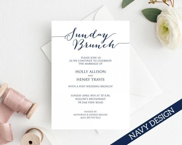 Sunday Brunch Wedding Brunch Invitation Wedding Brunch