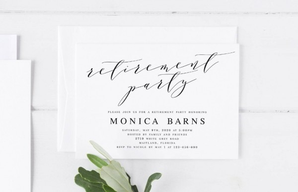 Retirement Party Invitation Template Printable Farewell Party