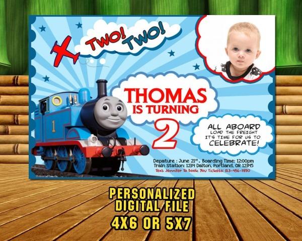 Thomas Train Invitationthomas Train Birthday