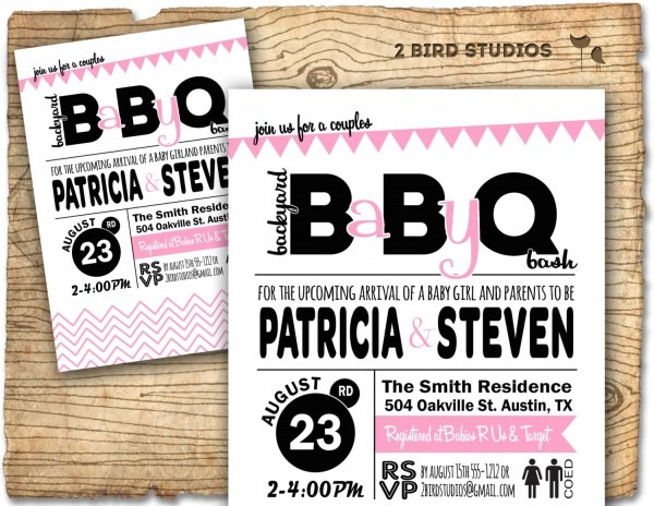 Baby Q Baby Shower Invitation Barbecue Bbq Baby Shower