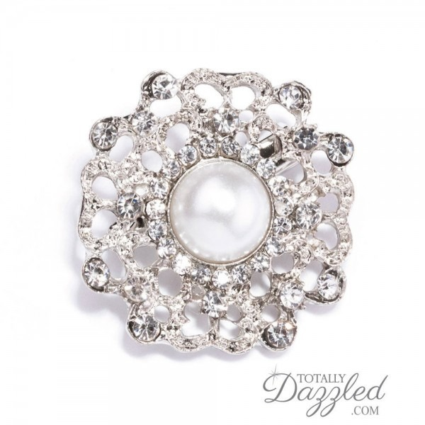 100pcs Pearl Brooch Embellishments Wholesale Brooch Wedding