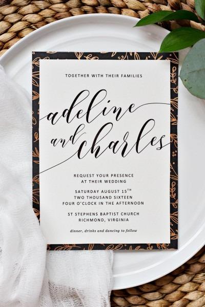 Easy Wedding Invitation Borders
