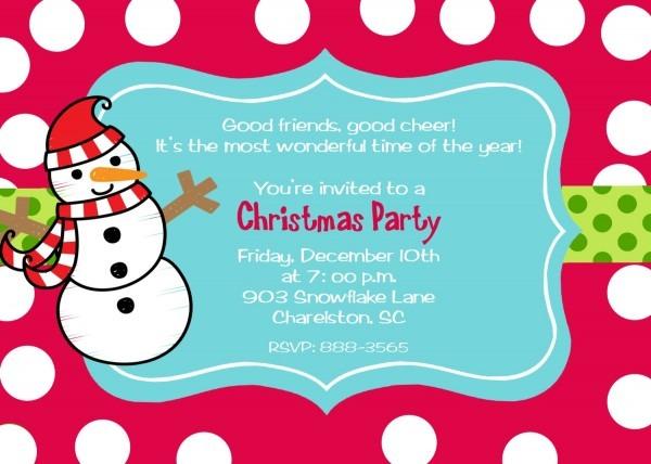 Kids Christmas Party Invitation Templates – Fun For Christmas