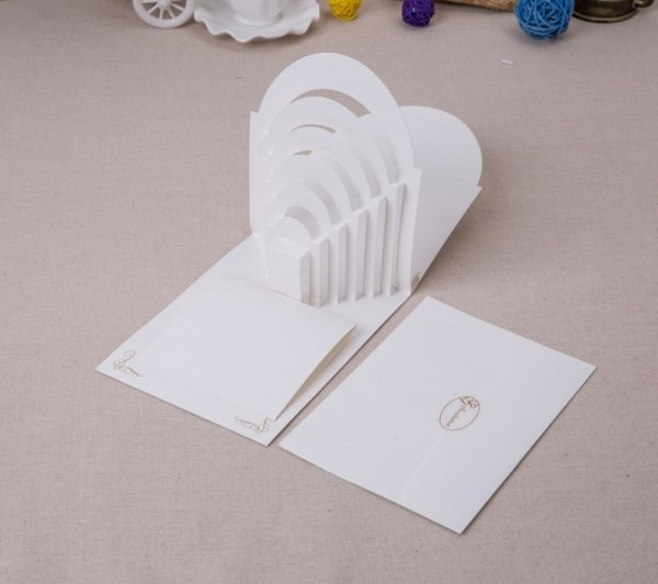 Laser Cut 3d Pop Up Wedding Invitations With Groom And Bride In