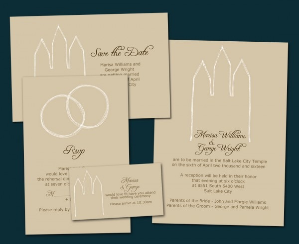 Lds Temple Wedding Invitation Wording With Ring Ceremony Plus