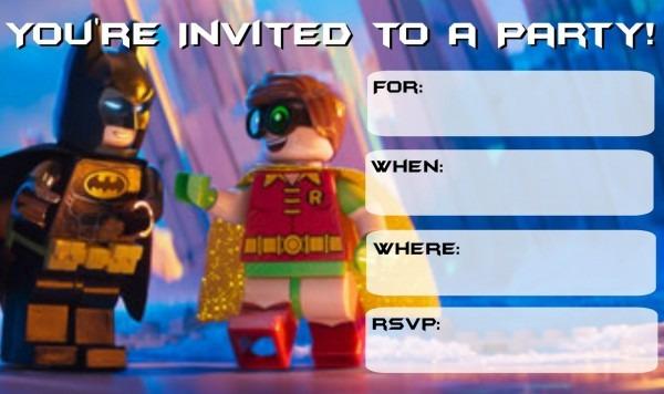 Lego Batman Printable Invitations – Jowo