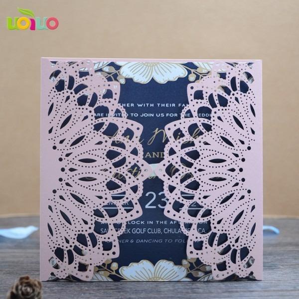 Light Pink Artificial Crafts Beautiful Personal Wedding Invitation