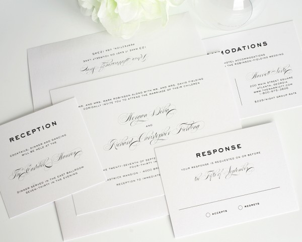 Lovable Modern Classic Wedding Invitations Simple Traditional
