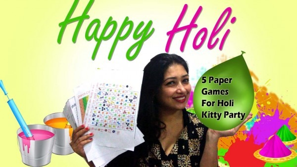 5 Paper Party Games For Holi Theme Kitty Party
