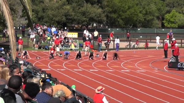 Stanford Invitational 2012, Boys 100m Dash Final (high School