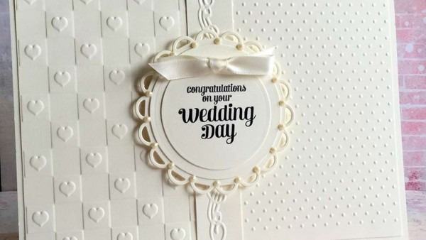 How To Make An Elegant Ivory Wedding Card