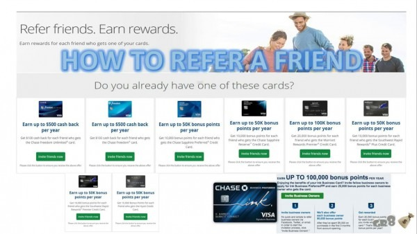 How To Refer Friends To Chase Credit Cards