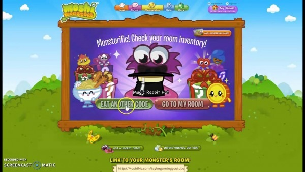 Moshi Monsters Codes 2017