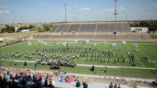 Wakeland Band At Prelims Of Plano East Marching Invitational