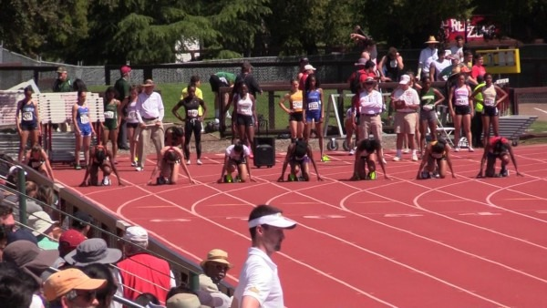 Stanford Invitational 2017, Girls 100 Meter Prelims, Heat 2