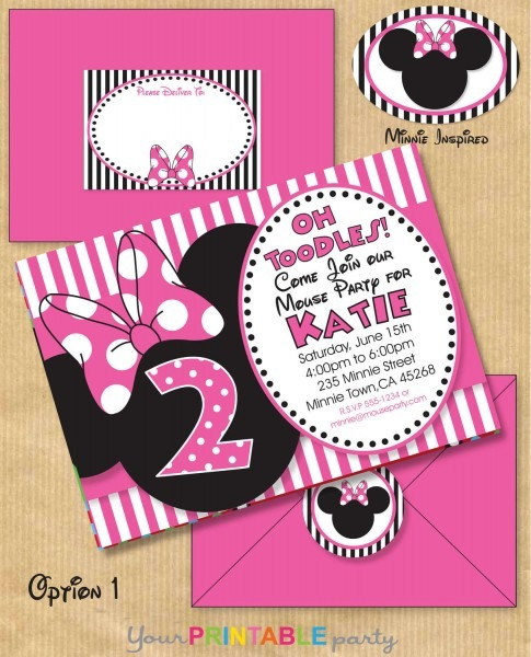 Minnie Mouse Party Invitations Minnie Mouse Party Invitations By