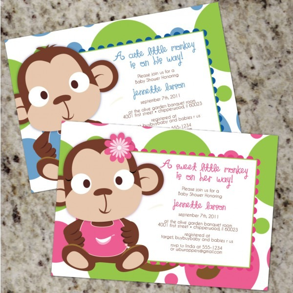 Monkey Baby Shower Invitations Baby Shower Decoration Ideas Adidas