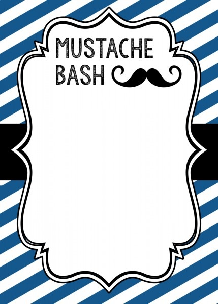 Mustache Party Invitations Mustache Party Invitations A Beauty