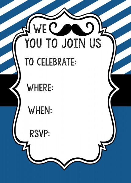 Mustache Party Invitations Mustache Party Invitations And