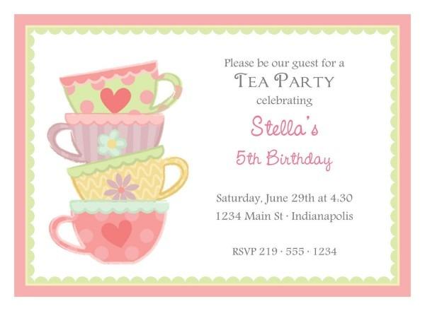 Imágenes De High Tea Birthday Party Invitation Wording