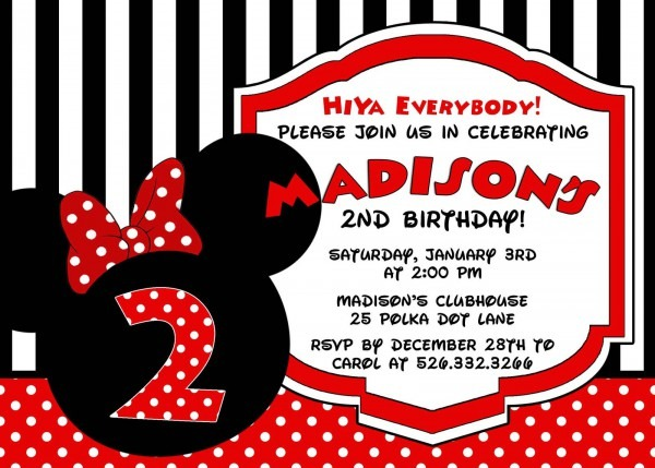 Minnie Mouse Red Invitation, Personalized, And 50 Similar Items