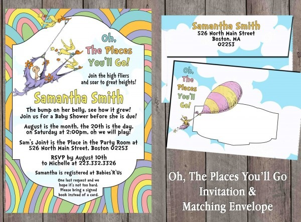 Oh, The Places You'll Go Invitation, And 50 Similar Items