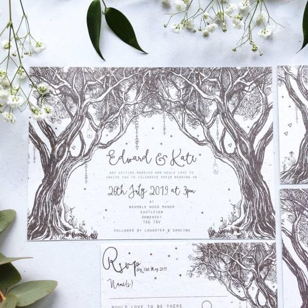 Enchanted Woodland Wedding Stationery By Summer Lane Studio