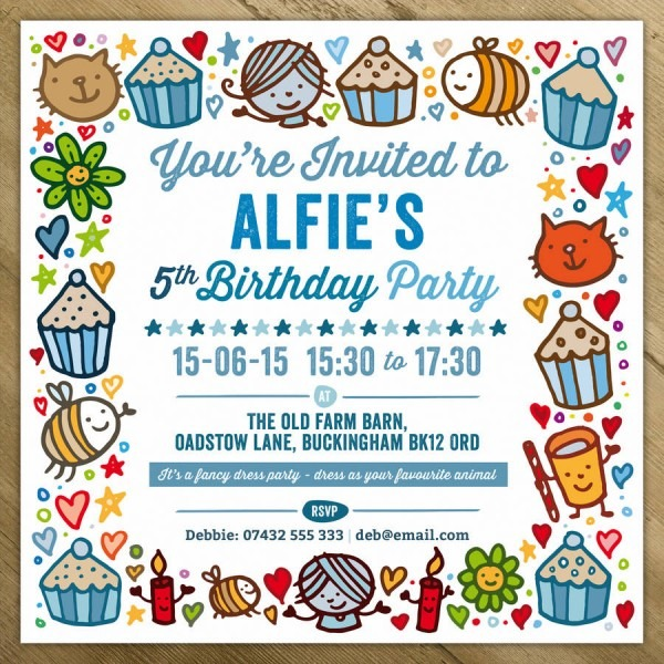 Childrens Party Invitations By A Is For Alphabet