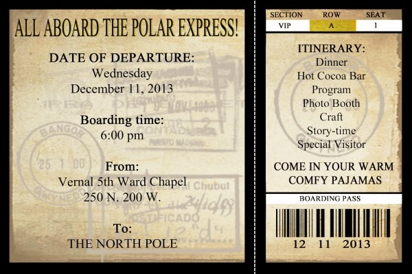 17 Images Of Polar Express Ticket Template Blank