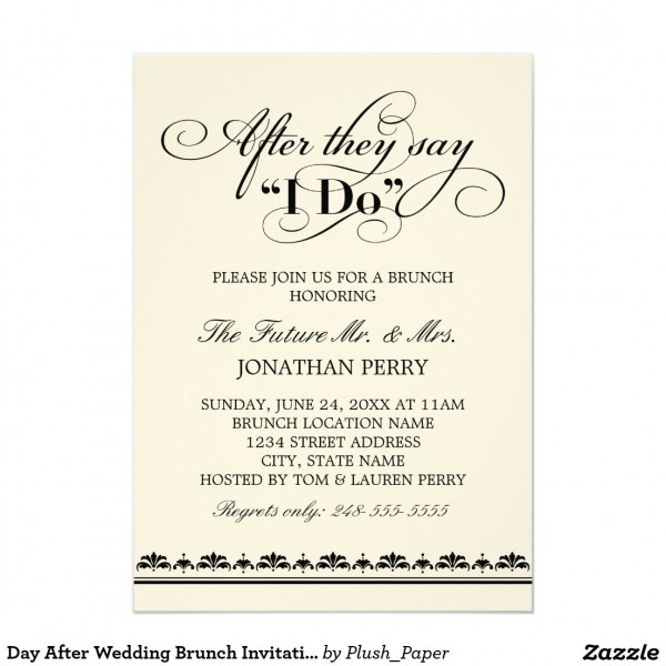Post Wedding Brunch Invitations Day After Wedding Brunch