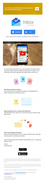 Your Invitation To Try Inbox By Gmail