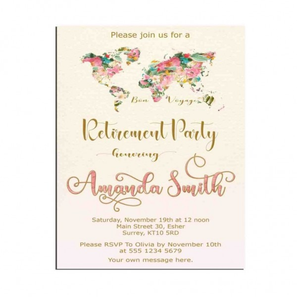 Retirement Flyer Template Powerpoint Free Party Invitation