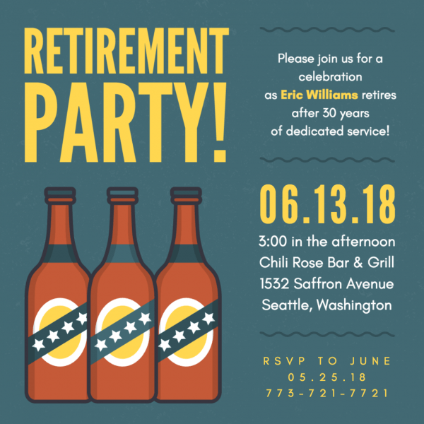 Retirement Party Invitations (with Layouts)