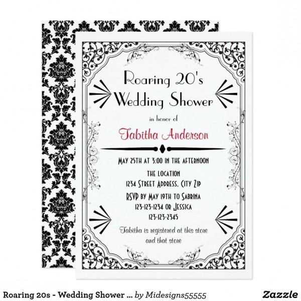Roaring 20s Wedding Invitations Roaring 20s