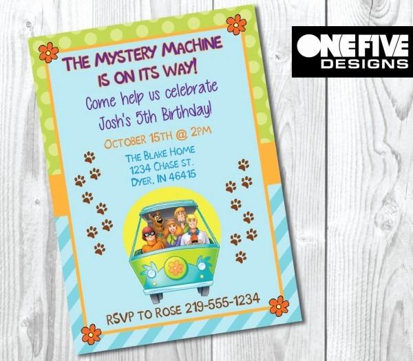 Scooby Doo Birthday Invitations Free Printables New Scooby Doo